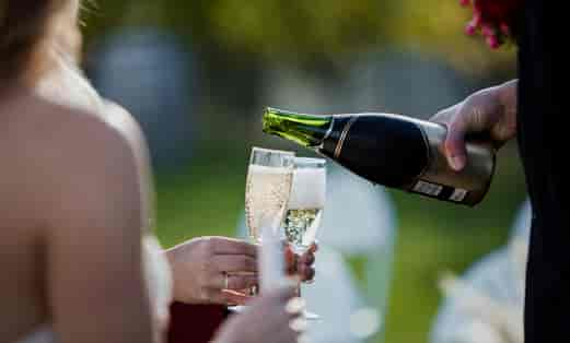 Oak Estate Winery Champagne Toast
