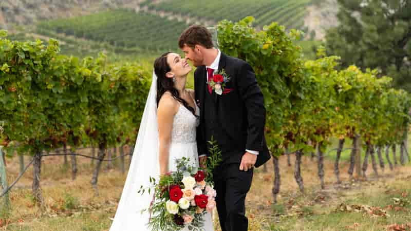 Winery Elopement Wedding Photo